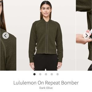 Lululemon On Repeat Bomber Jacket